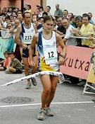 La catalana Esther Hernández entrando en meta. Volvió a dominar la prueba femenina como en el pasado Campeonato de España de Castellón. - Foto: Archivo FEDME