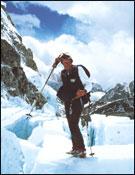El alpinista y guía kazajo Anatoli Bukreev en el Everest (1996). <br>Foto: Col. A. Bukreev