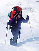 Chus camino del Campo 3 del Pobeda Peak. - Foto: chuslago.com
