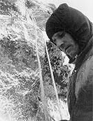 Imagen tomada durante el primer intento de Jordi Pons a la norte del Dru en 1959, junto a Josep Santacana. - Foto: Col. Jordi Pons