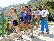 Los seis corredores de la Selección Venezolana que corrieron en Trévelez, con excelente resultado: podium en ambas categorías. - Foto: FEVME