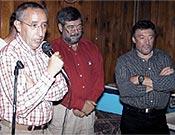 Rafa Domenech, Pepe Hurtado y Bernabé Aguirre, durante la concesión de los homenajes anuales del club, el pasado 19 de octubre. - Foto: Juanjo Zorrilla
