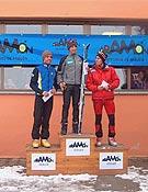 Podium masculino de la Crono Escalada de Cerler 2003. Ganó Manu Pérez.