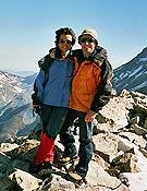 Merce y Esteban en el Gran Pico de Eriste el pasado mes de junio. - Foto: Col. M. Planas