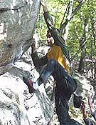 Chris Sharma blocando durante el pasado Petzl Roc Trip de Gunks (USA). - Foto: petzl.com
