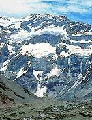 Vista frontal de la cara sur del Aconcagua. - Foto: humar.com