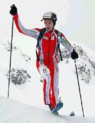 El francés Stéphane Brosse, ganador de la Trilogiski 2004 de Morgins. - Foto: trilogiski.ch
