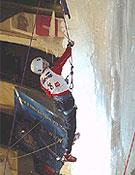 Durante la disputa del III Campeonato del Mundo de hielo (IWC 2004), en Saas-fee. <br>Foto: mountain-life.ch
