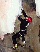 Ben Firth compitiendo en Saas-Fee (Suiza), IWC 2002. <br> Foto: ice-time.com