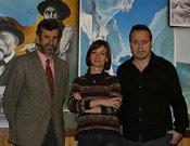 Miembros del Jurado del VI Premio Desnivel. De izquierda a derecha: Carlos Muñoz Repiso, Beata Rozga y Francisco Nadal.- Foto: Darío Rodríguez