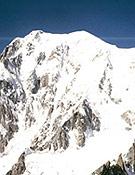 El coloso Mont Blanc, junto a la Grand Pilier d