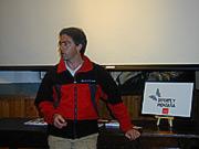 Josechu Jimeno durante la charla.- Foto: Archivo Desnivel