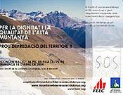 Cartel de la concentración en Vall Filià promovida por Mountain Wilderness