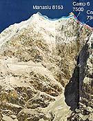 Vía abierta por la expedición ucraniana de Symonenko al Manaslu en 2001.- Foto: