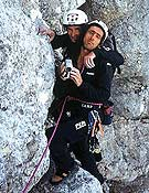 Berhault y Edlinger durante la travesía alpina de Patrick durante 2001-2002. - Foto: Glenat Presse