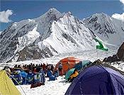 Concordia, punto de unión de los glaciares Baltoro, Abruzzos y Godwin-Austen, y mirador de los gigantes del Karakorum, donde se encuentra el K2.- Foto: deporteandaluz.com