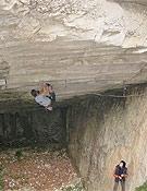 Christian Bindhammer en Underground, vía que recotó a 9a en 2003. - Foto: A. Bindhammer