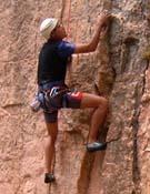 Un participante en la sección de escalada deportiva. - Foto: Eduardo Rodriguez Regueira