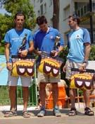 Tres primeros clasificados en categoría masculina. - Foto: FEDME