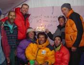 La expedición al completo. Manel, tercero por la derecha.- Foto: K2 Magic Line.