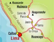Mapa Perú y Huaguruncho.
