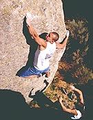 Ferrán Guerrero probando The Fly, proyecto, durante la Navalameca 2003. - Foto: R. Rodríguez
