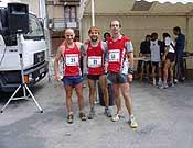 los tres finalistas de la carrera de Pradoluengo