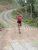 uno de los participantes llega a la meta