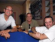 Joan Garrigós (centro) junto a Jordi Pons y Joan Quintana (dcha) en el pasado Encuentro de Escaladores del GAME celebrado en el Midi d