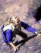 Beth Rodden en acción.Foto: mountain.ru