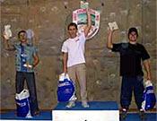 Podium masculino del Campeonato Catalán de Escalada 2004. - Foto: feec.org