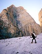 Eloi Callado durante el primer porteo a la base de la pared. - Foto: Sílvia Vidal