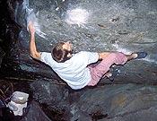 Abraham Olcina resuelve Octopussy, 8a de bloque de Magic Wood (Suiza). - Foto: Israel Olcina