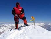 Carlos Pauner en la cima del Gasherbrum 1, su último ochomil. - Foto: carlospauner.com