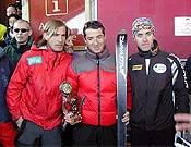 Podium masculino de la IX Crono Escalada Individual de Cerler.- Foto: fedme.es