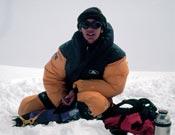 Chus Lago durante su ascensión al Everest en 1999. - Foto: Colección Chus Lago