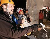 Podium masculino en Kandesteg (Suiza), al que subió Israel Blanco, tercero. <br> Foto: ready2climb.com