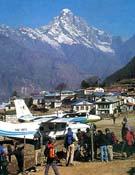 Aeródromo de Lukla, paso obligado para las expediciones que van al Himalaya Nepalés.Foto: Darío Rodríguez.