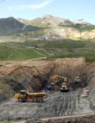 Obras de ampliación de la estación de Formigal.Foto: Ecologistas en Acción