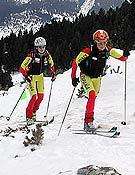 Emma Roca y Tina Bes compitiendo en Cerler. - Foto: fedme.es