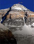 Norte del Everest; a la derecha el Corredor Horbein. - Foto: mountain.ru