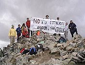 Protesta por San Glorio.Foto: sanglorio.tk