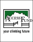 Logo de la asociación norteamericana Access Fund.(www.accessfund.org)