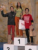 Sara Aicart, Mónica Martínez y Mª del Mar Álvarez; podio en Sabadell.Foto: feec