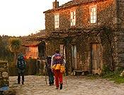 Un grupo de peregrinos, en el Camino de Santiago.<br>Foto: desnivelpress.com