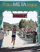Miguel A. Sánchez batiendo el récord masculino de la Marató i Mitja de Penyagolosa. - Foto: Miguel Miravet