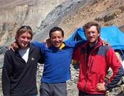 De izquierda a derecha Iñaki Ochoa de Olza, Iván Vallejo y Christian Stangl.- Foto: navarra8000.com