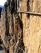 Un tramo del desvencijado Caminito del Rey. <br>Desnivelpress.com