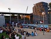 Estructura de Top 30 instalada en el Club Natació de Terrasa, que acogió la última prueba de la Copa de España 2005. <br> Foto: Isaac Fernández / FEDME