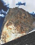 Muro este de La Esfinge (5.325 m).Foto: Jonás Cruces